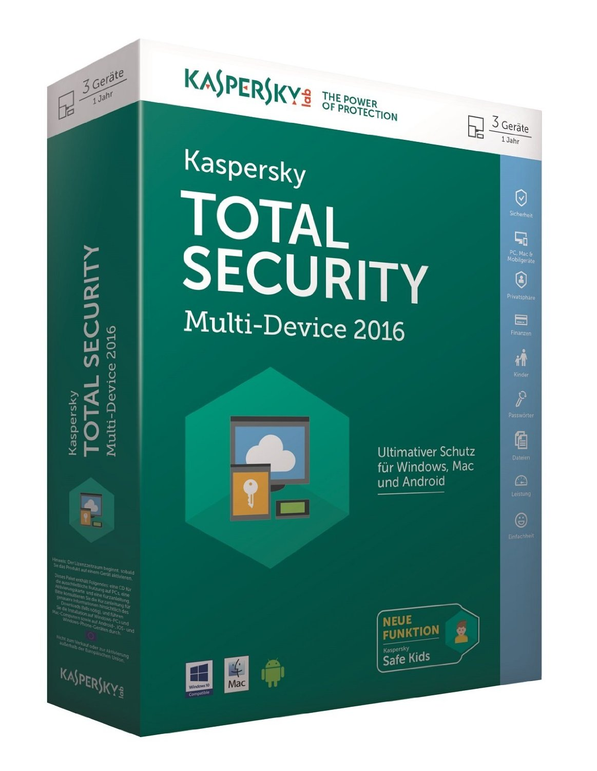 Kaspersky Total Security – Multi Device 2016 für 2,54€