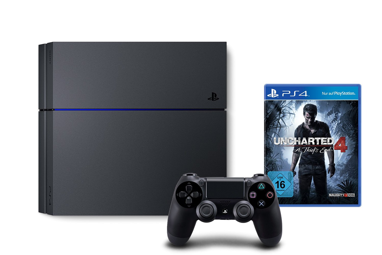 PlayStation 4 1TB + Uncharted 4 für 319,99€