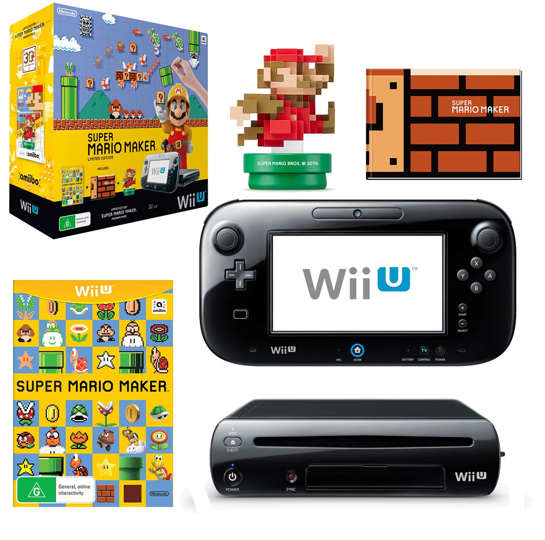 Nintendo Wii U Limited Edition Super Mario Maker Premium Pack für 204€