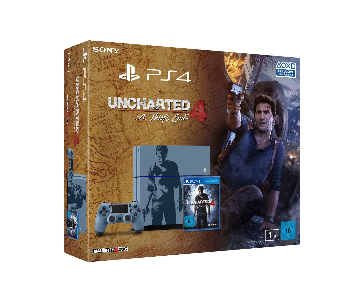 Sony PS4 1TB Limited Uncharted Edition für 299€